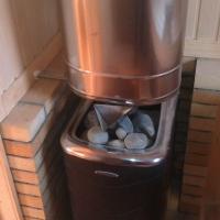 установка банной печи