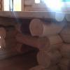 изготовление банной мебели из оцилинрованного бревна